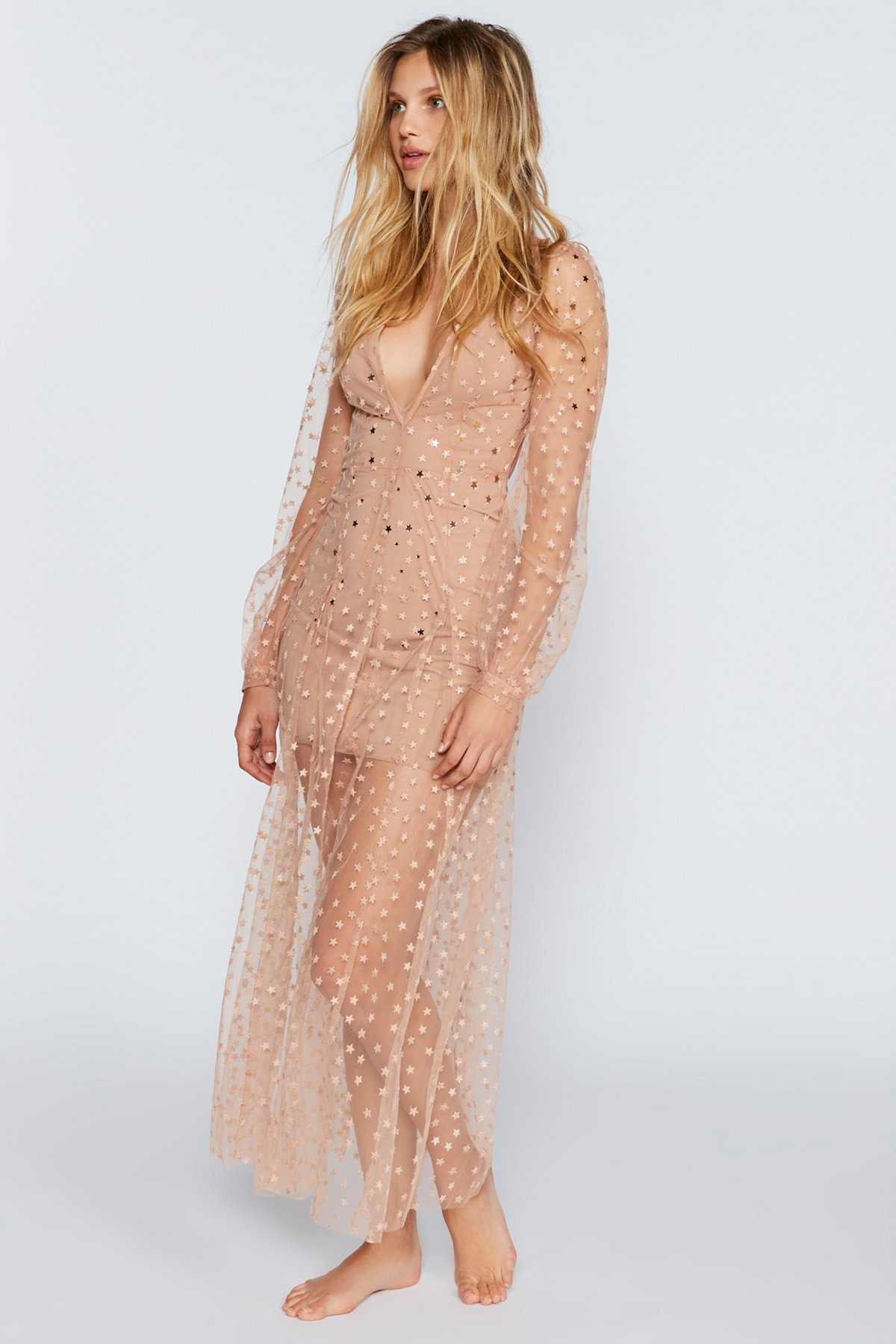 All That Glitters Tulle Maxi Dress
