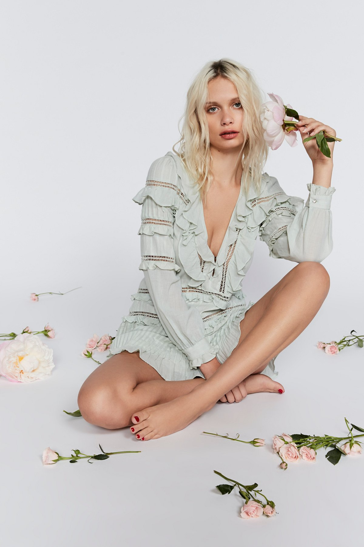 Ziggy Pintuck Mini Dress
