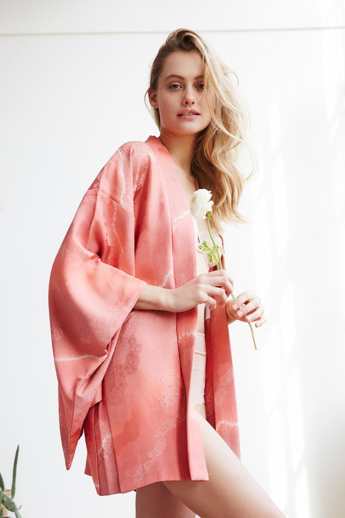 Vintage 1970s Silk Kimono