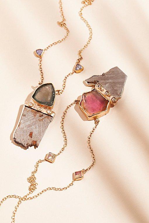 Product Image: 14K Meteorite Diamond Necklace