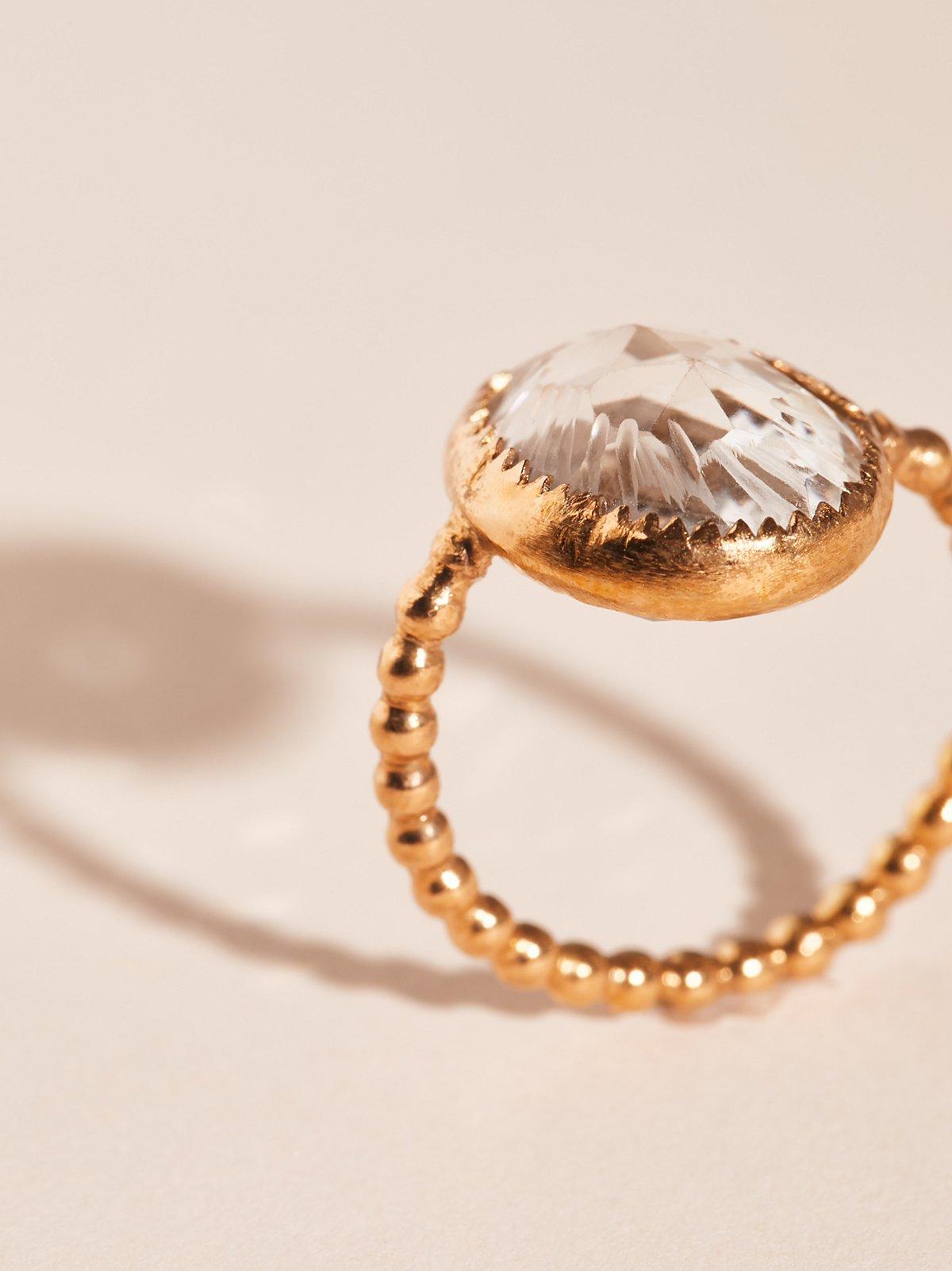 Heart Lighter Quartz Ring