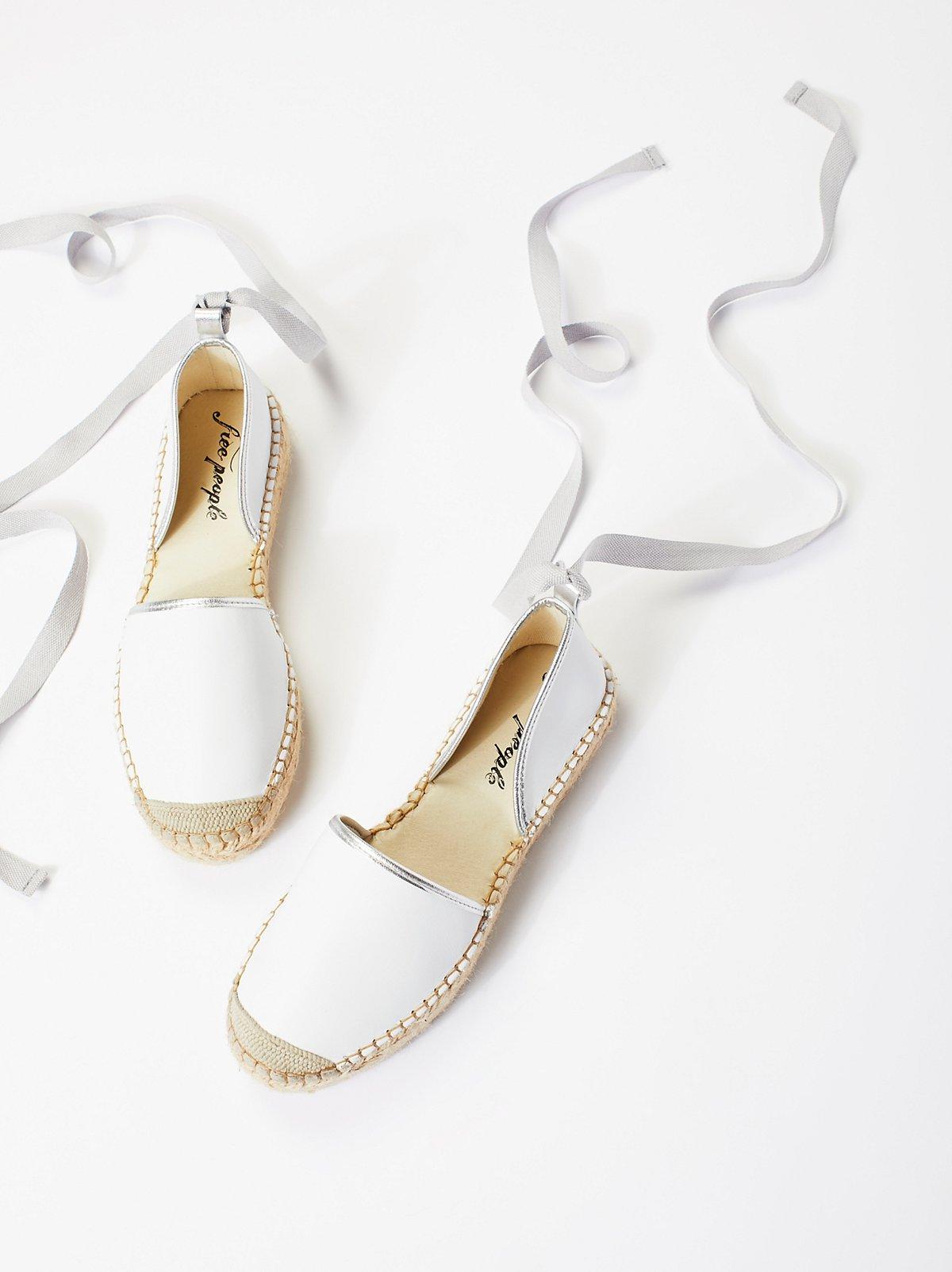 Paradise皮革麻底鞋