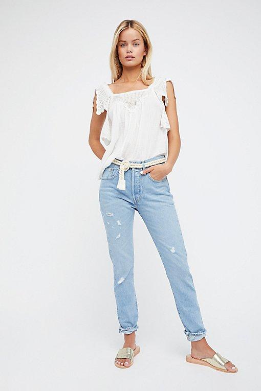 Product Image: 501紧身布边牛仔裤