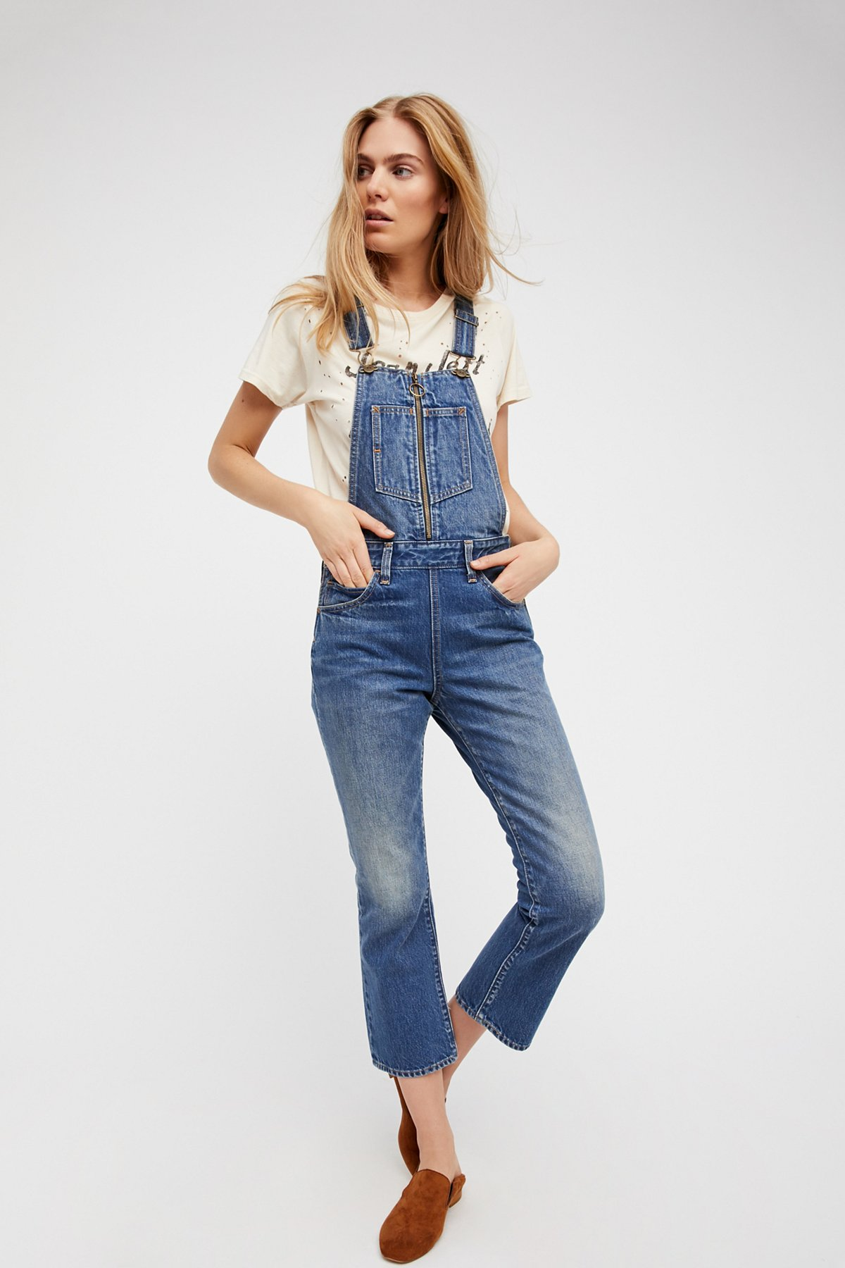 Orange Tab Denim Dungarees
