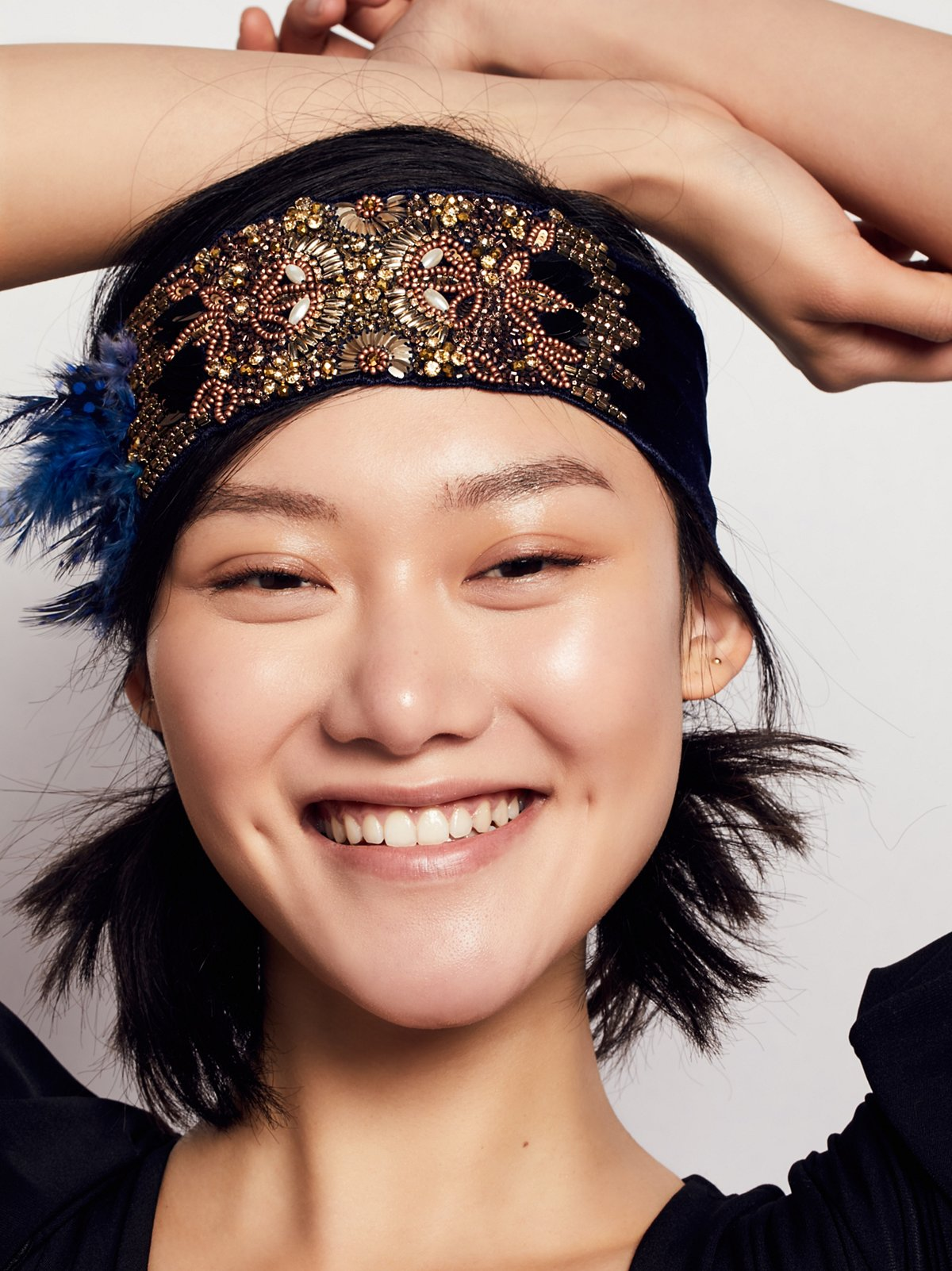 Sequin Feather Headband
