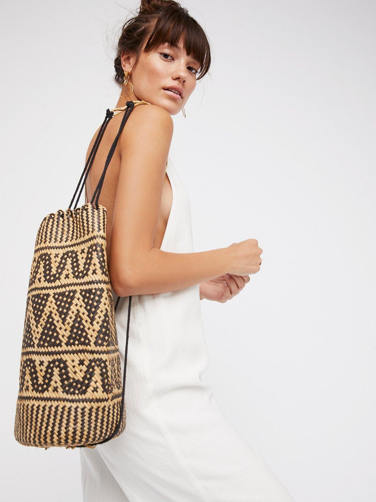 Palma Rattan Backpack
