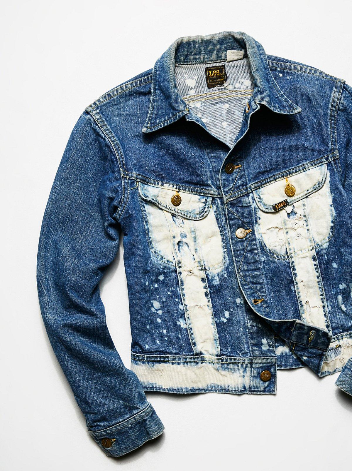 Vintage1980s Bleached Denim Jacket