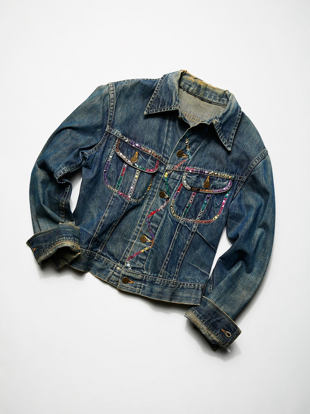Vintage 1980s Embroidered Denim Jacket
