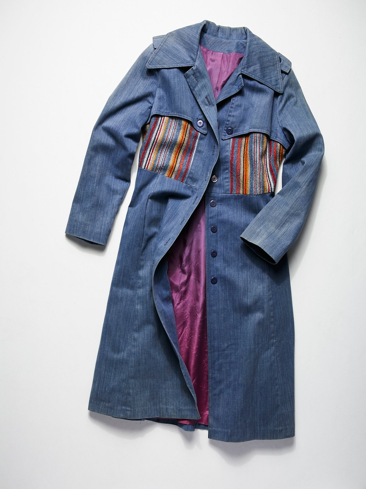 Vintage 1970s Denim Duster Coat