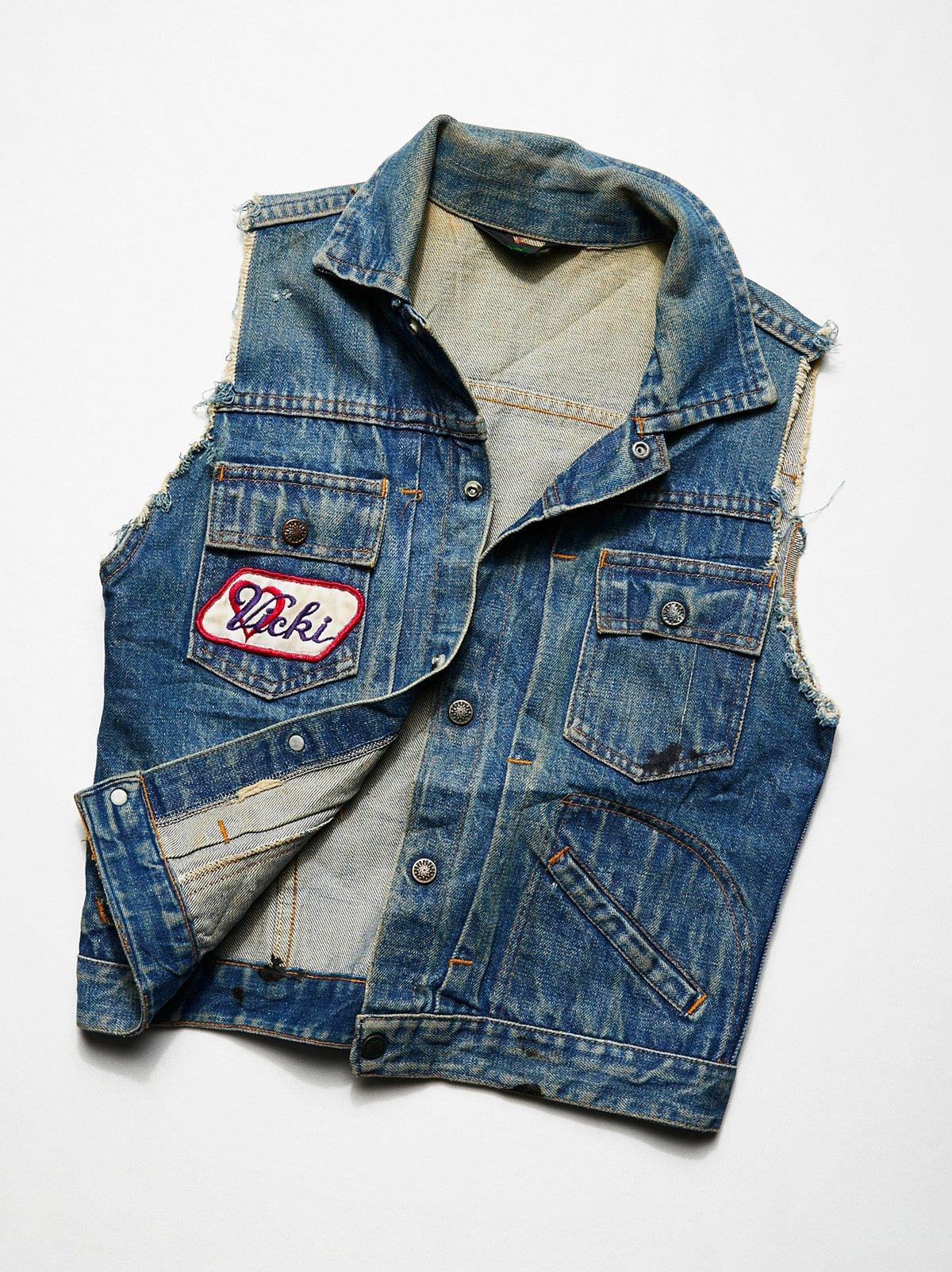 Vintage 1980s Denim Vest