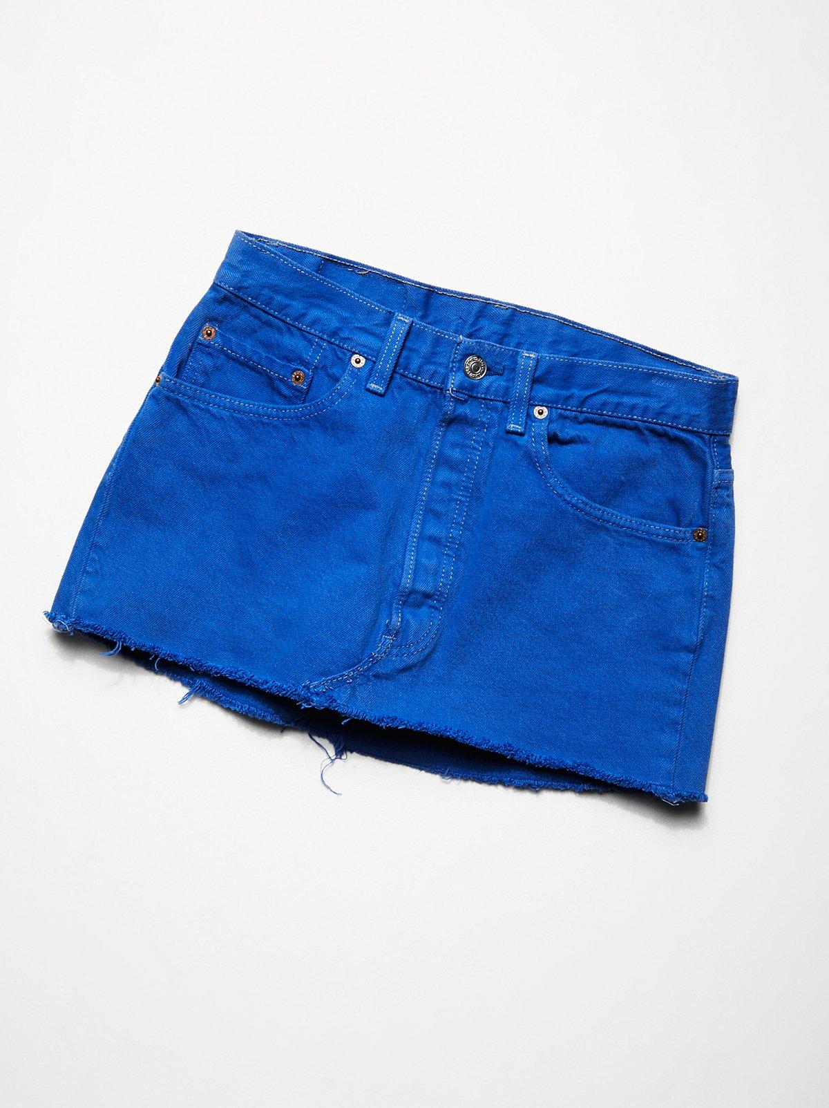 Vintage 1990s Overdyed Mini Skirt