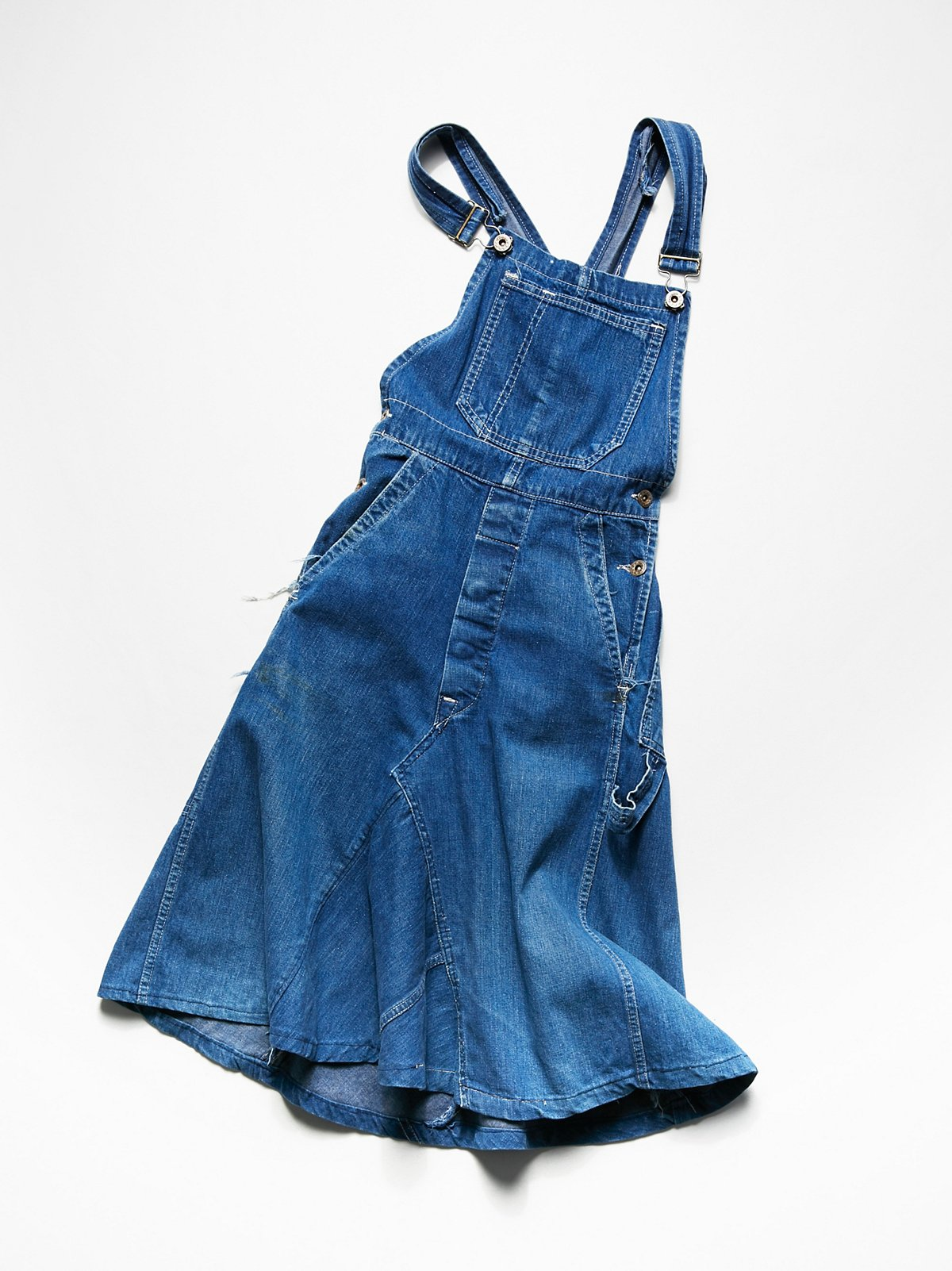 Vintage 1970s Overall Dress