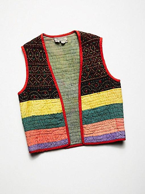 Product Image: Vintage 1960s Kantha Quilt Vest