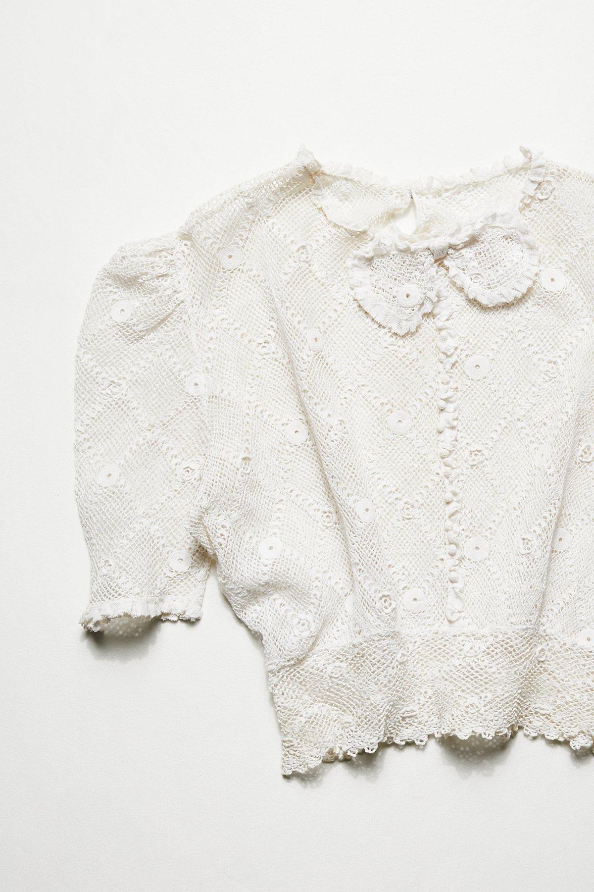 Vintage 1920s Victorian Crochet Top