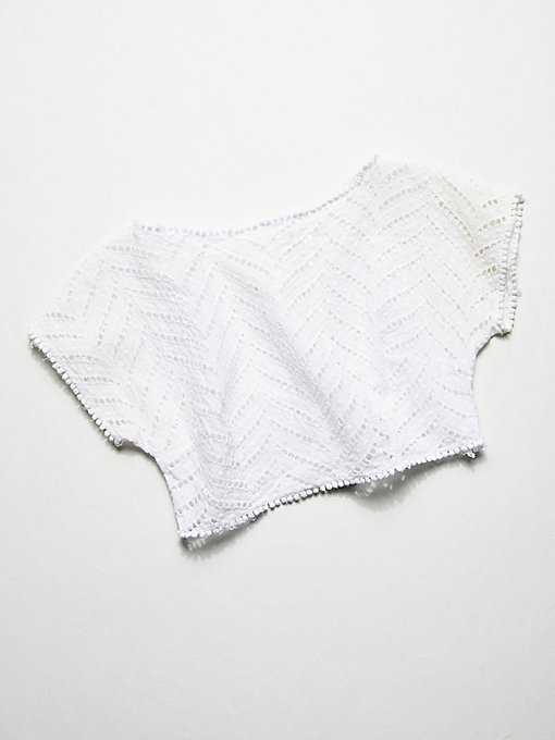 Product Image: Vintage 1980s Cropped Eyelet Top