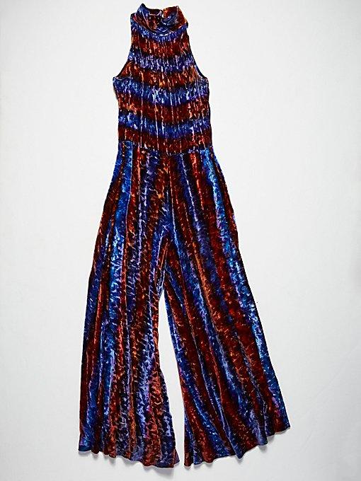 Product Image: Vintage 1970s Velvet Jumpsuit
