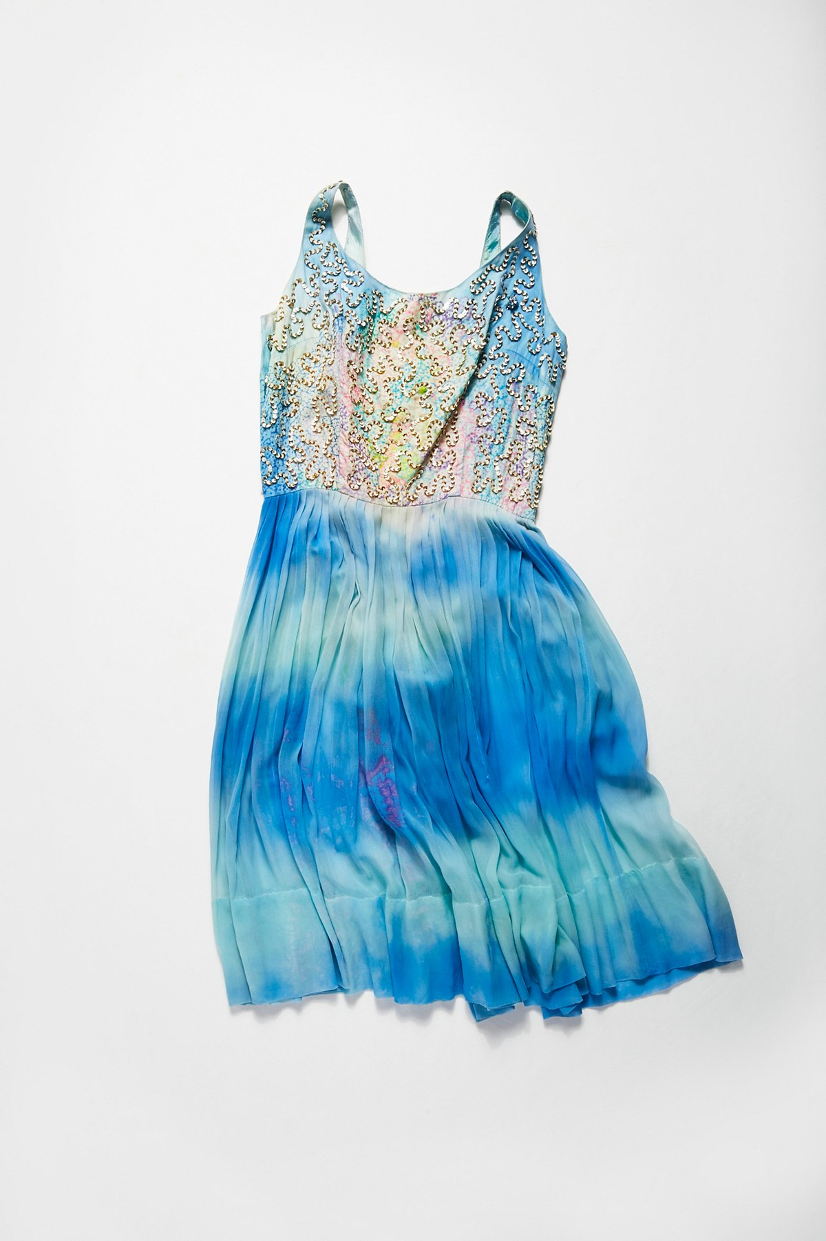 Vintage 1960s Tie Dyed Party Dress
