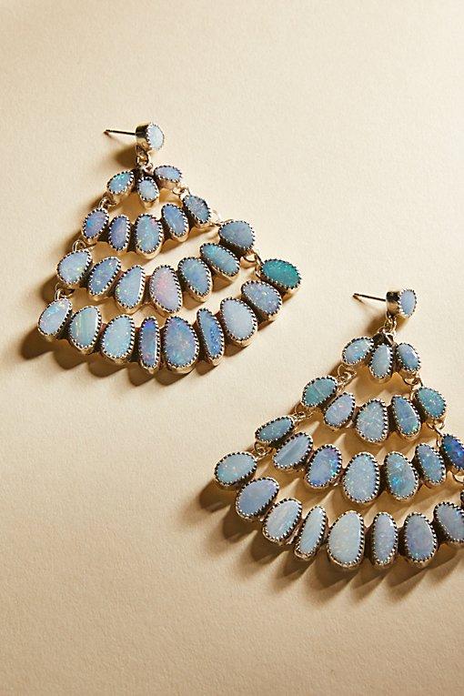 Product Image: Raw Stone Chandelier Earrings