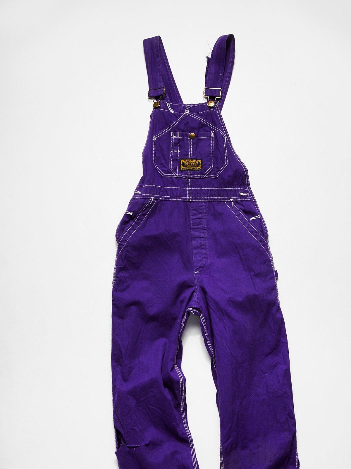 Vintage 1980s Purple Denim Overalls