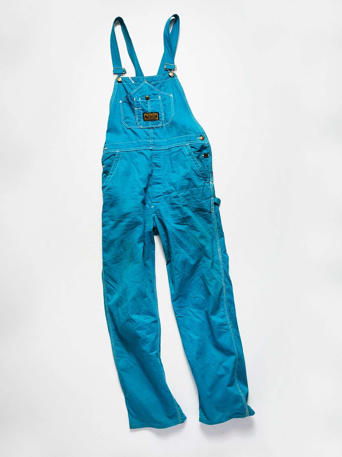Vintage 1980s Colored Denim Overalls