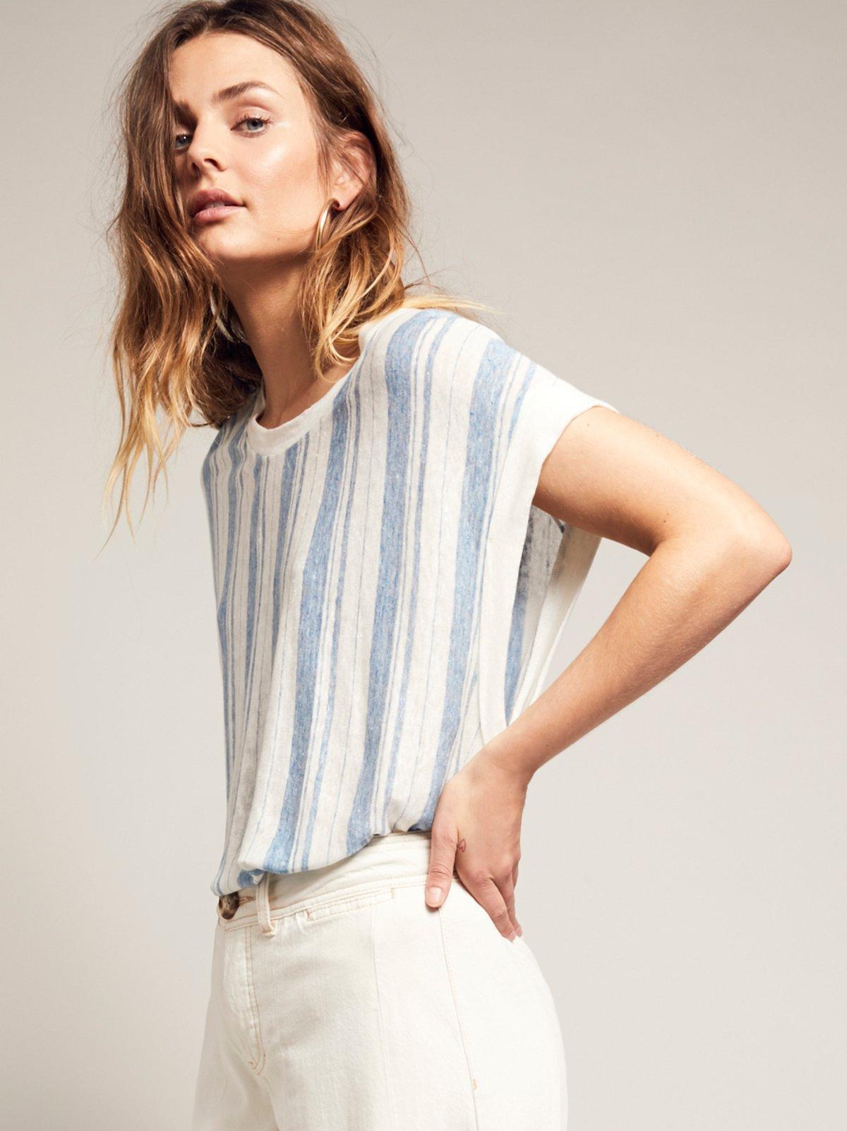 Calabasas条纹无袖裙衫