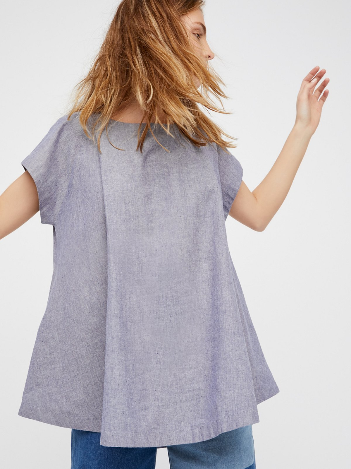 Crazy Hearts Chambray Top