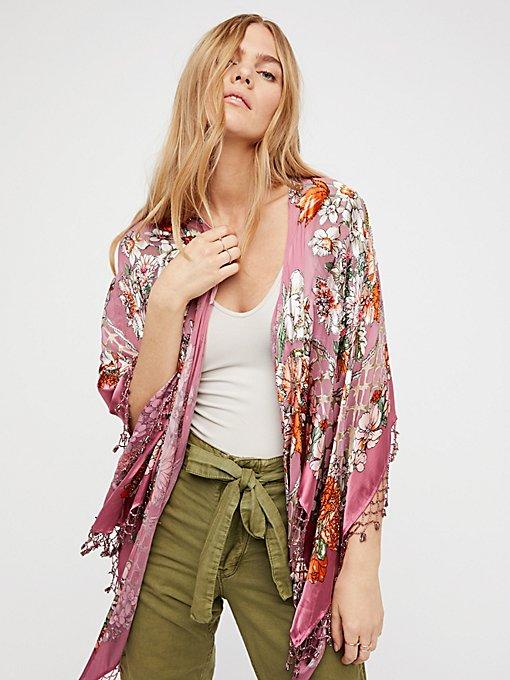 Product Image: Burnout Silk Butterfly Kimono