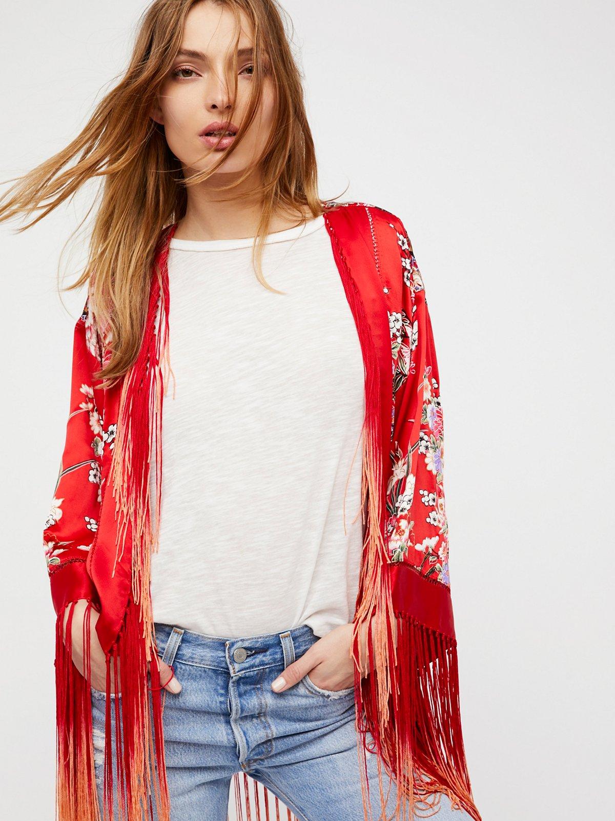 Best of My Love Silk Kimono