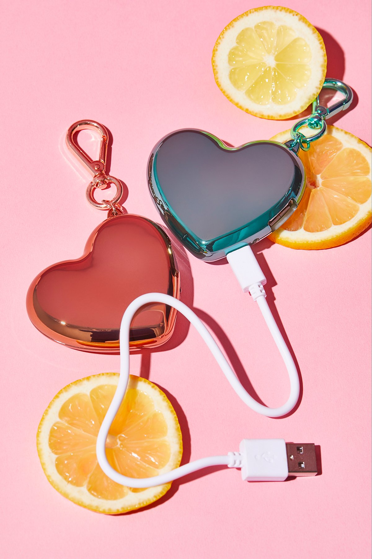 Heart Charger Keychain