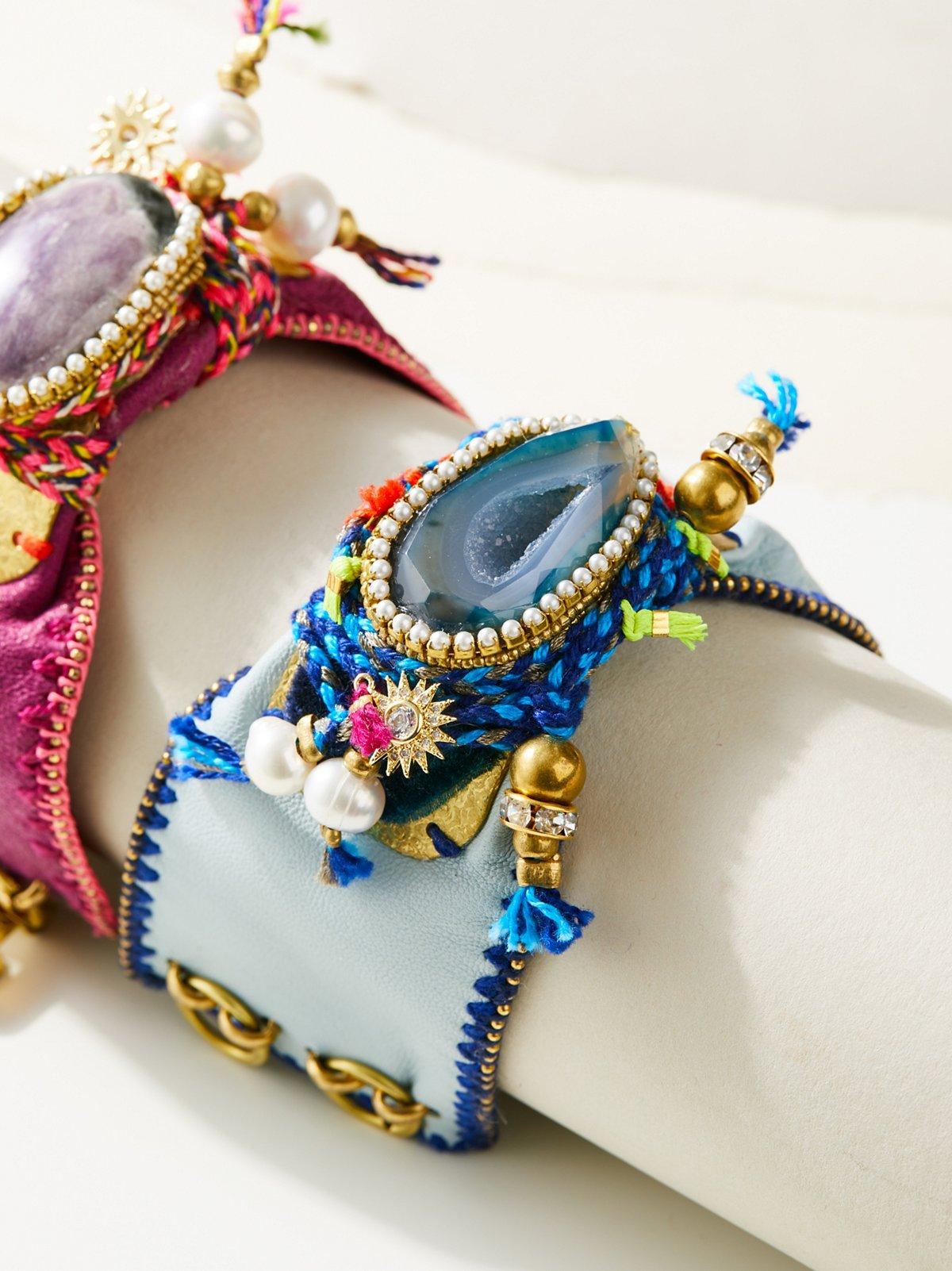 Jewel Of The Nile皮革手镯