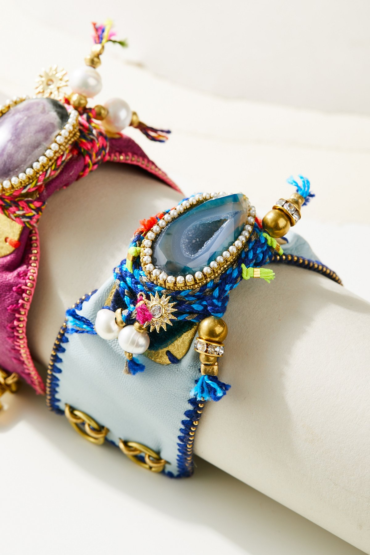 Jewel Of The Nile Leather Cuff