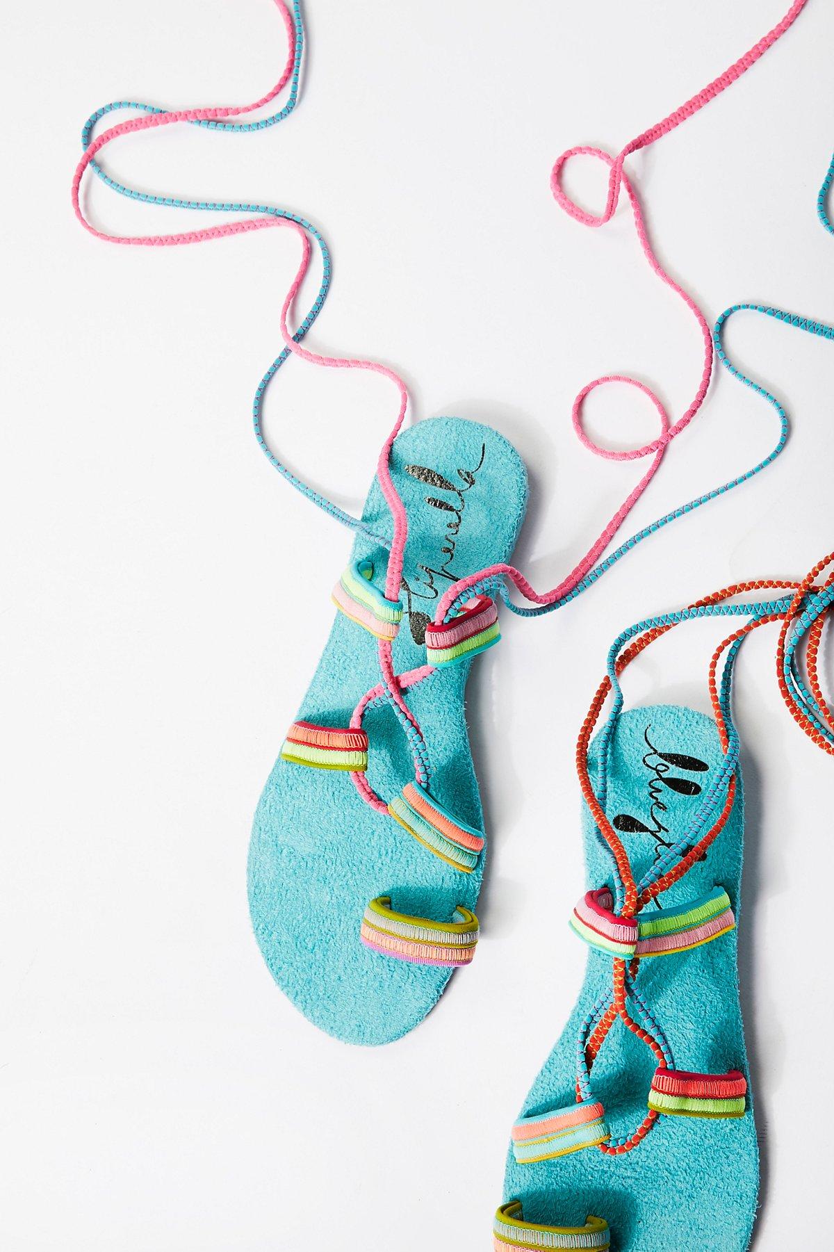 Neon Wrap Sandal