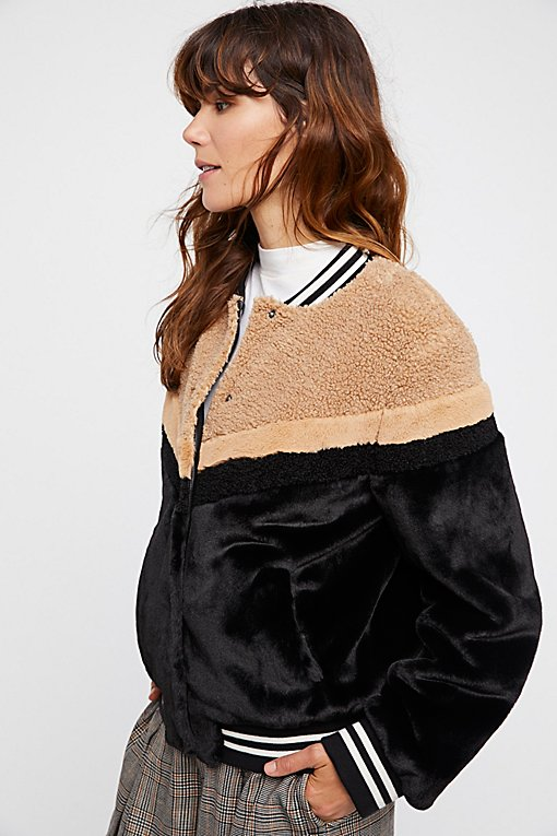 Product Image: Mixed Faux Fur Bomber