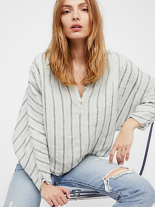 Product Image: Striped Dolman Swing Blouse