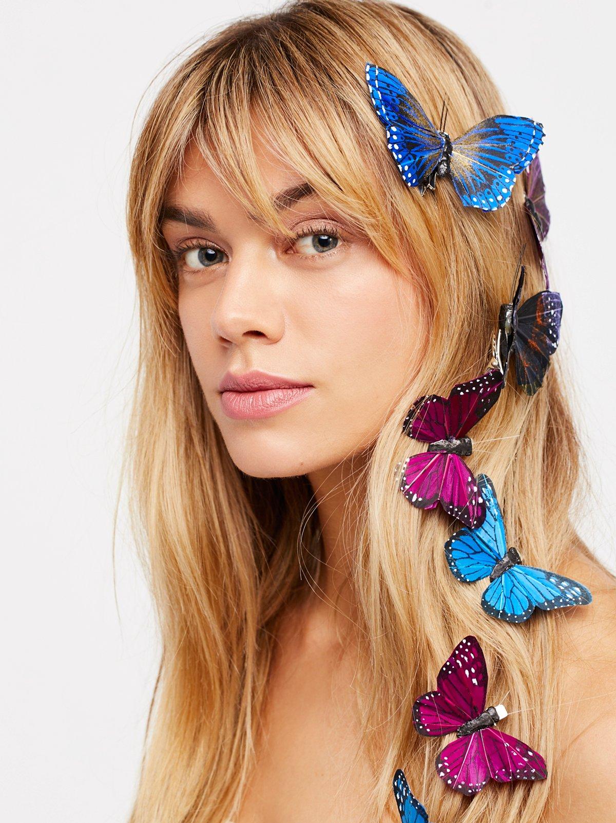 蝴蝶发夹 - 7件装