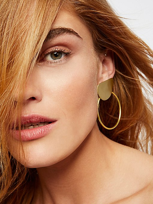 Product Image: 黄铜环形耳环