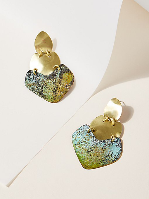 Product Image: Patina Plate Earrings