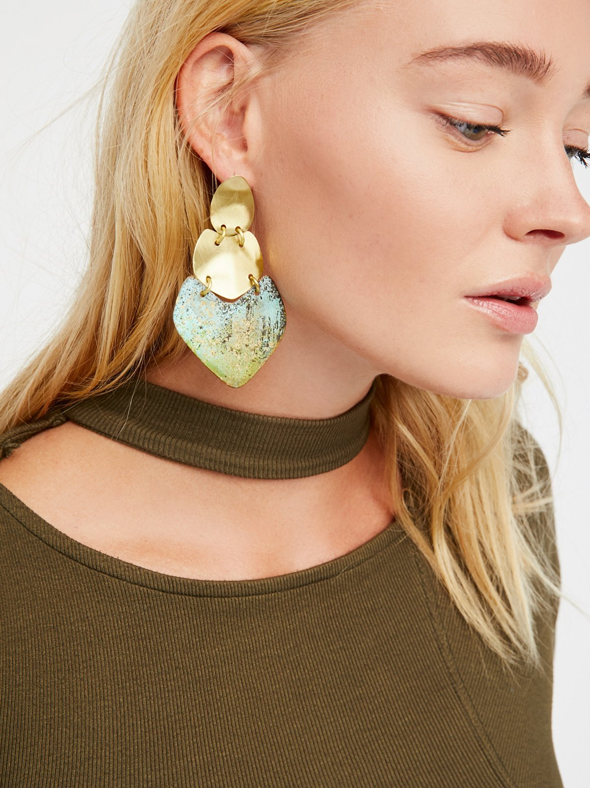 Patina Plate Earrings