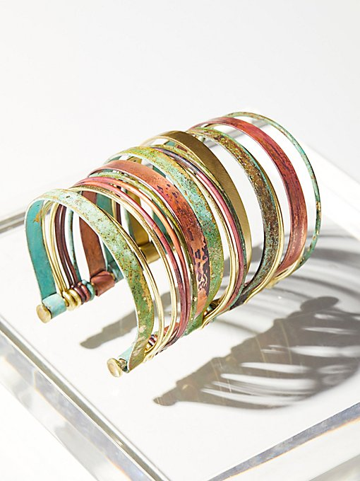 Product Image: Stacked Patina Multi Cuff