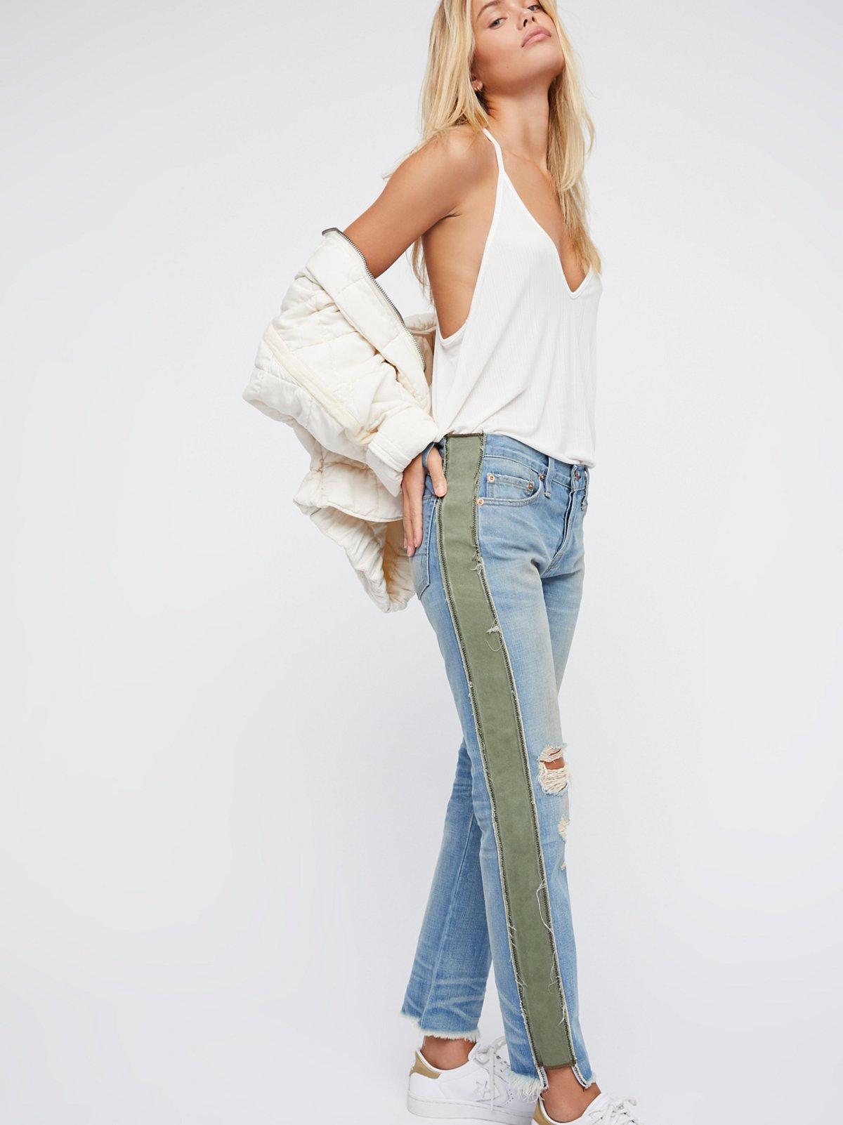 Maggie Deconstructed Tux Jeans