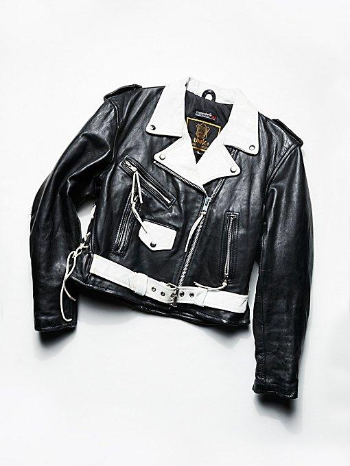 Product Image: Vintage 1980s Two Tone Moto Jacket