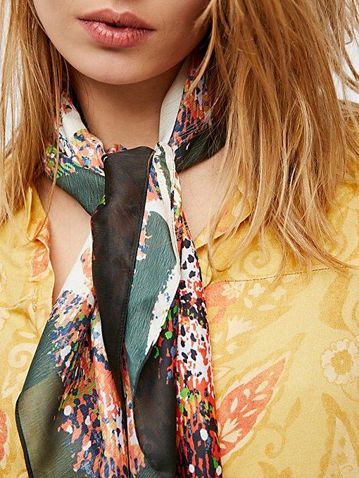 Product Image: Wren Silk Print Bandana