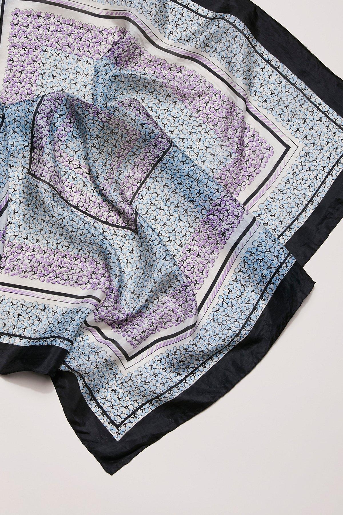 Vintage Floral Silk Scarves