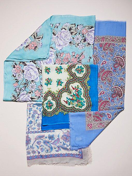 Product Image: Vintage Floral Cotton Scarves