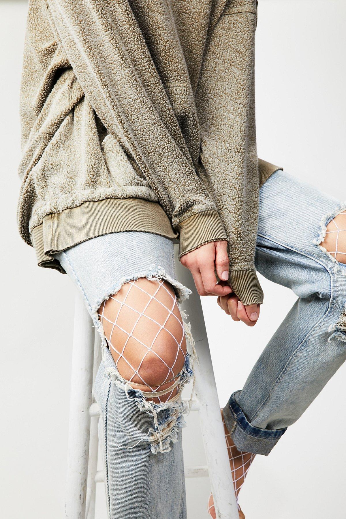 La Maison渔网紧身打底长袜