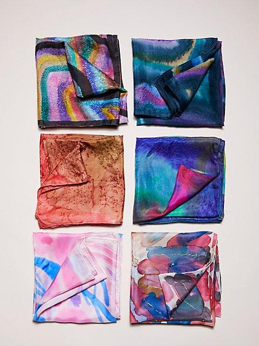 Product Image: Vintage Tie Dye Silk Scarves