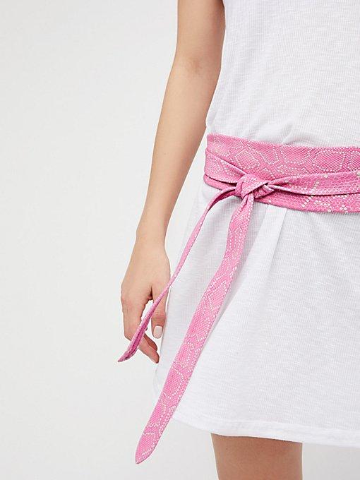 Product Image: Python Leather Obi Belt