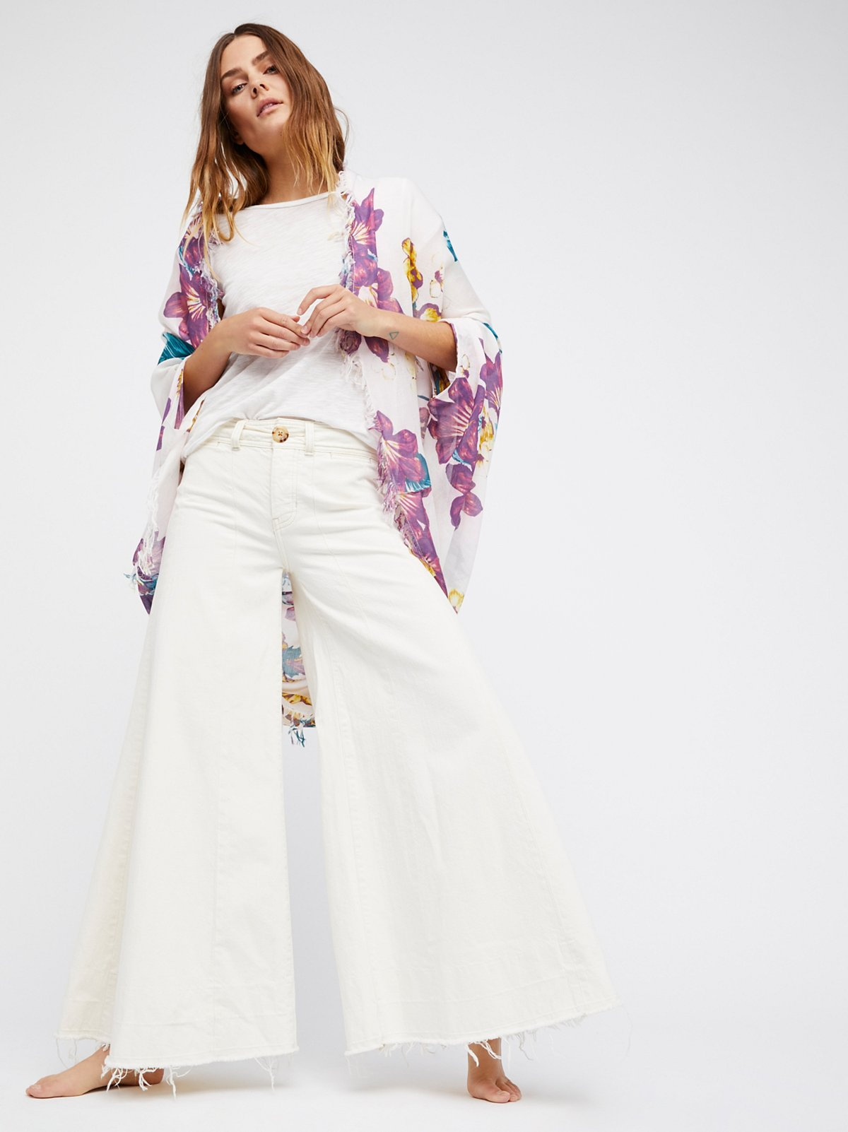 Good Vibrations Printed Cocoon Kimono