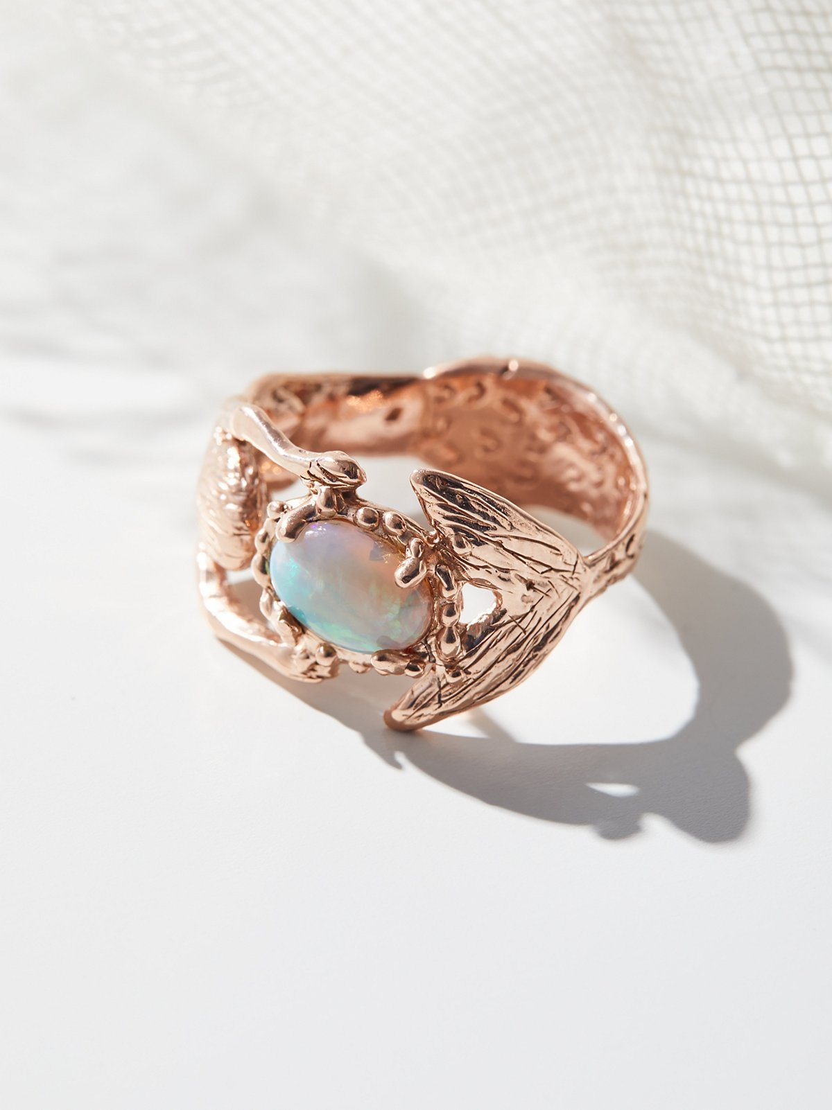14K Mermaid Opal Hug Ring