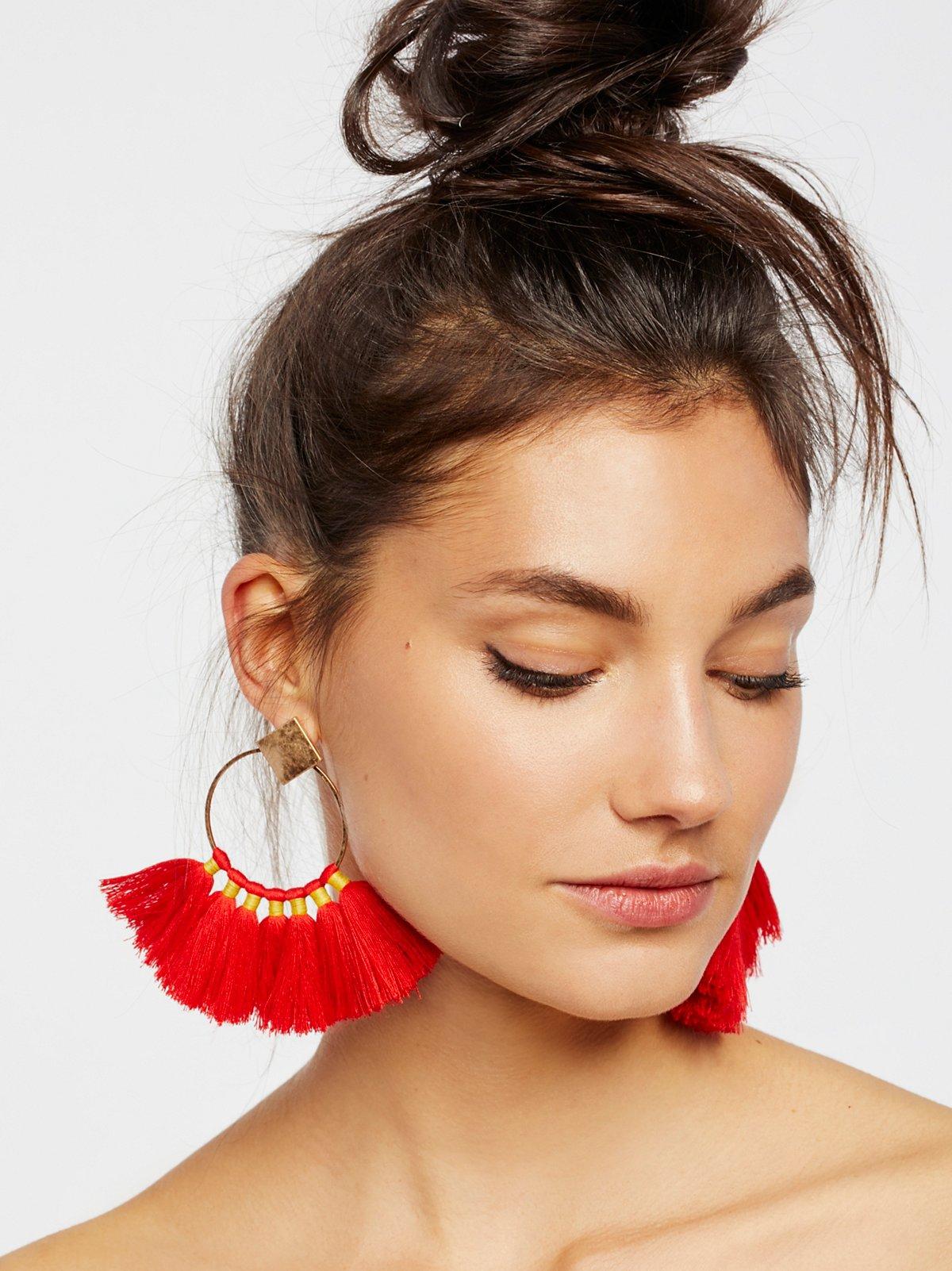 Full Bloom Fan Earring